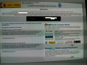 aviso policia virus